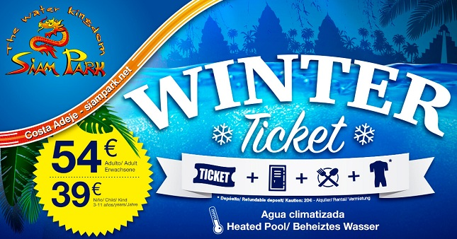 winter ticket siam park 2017